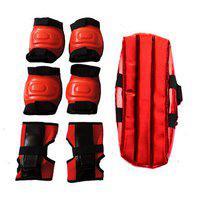 Hipkoo Champ Protective Set For Safety (red) Skating Kit