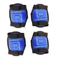 Hipkoo Protective Guard Set Of 2 (elbow Knee Guard) Cycling Kit Skating Guard Combo (blue)