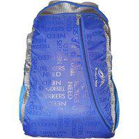 Trekkers Need Waterproof Light Weight Casual Backpack School Bag In Blue And Grey Colour