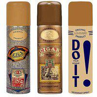 Lomani Remy Latour Cigar and Do It and El Paso Deodorant Spray, 200 ml (Pack of 3)