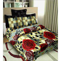 Little Joy Beautiful Design Double Bed Sheet With 2 Pillow Cover