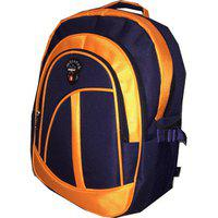 Apnav Blue & Orange Waterproof Polyester Backpack