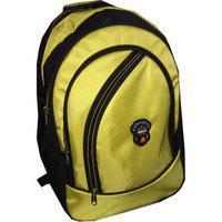 Apnav Black & Yellow Waterproof Polyester Backpack