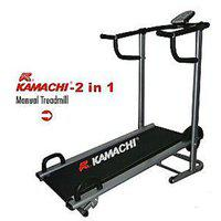 Kamachi Branded Manual Treadmill 2 In 1 With Push Up Bar