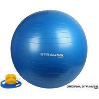 Strauss Anti Burst Gym Ball With Foot Pump 65 Cm