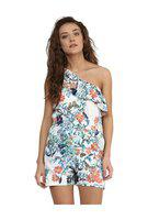 Miss Chase Women's Crepe One-shoulder Playsuit (mcss16d01-93_multicolored)