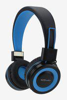 Portronics Muffs G On the Ear Wireless Bluetooth Headphone with Mic and Aux Cable, POR 011 (Blue)