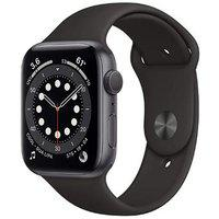 Apple Watch Series 6 GPS plus Cellular 44mm Aluminium Dial Smart Watch (Black)