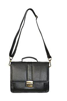 Wcl Genuine Leather Cash Bag Cum Side Bag With Long Handle 118_WCL Black