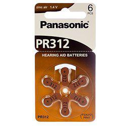 Panasonic Panasonic Hearing Aid Batteries Size 312 60pcs + Keychain Kit