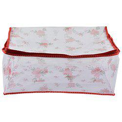 Arihant Collection PVC 16.51 cms Red Softsided Flower Net Saree Cover