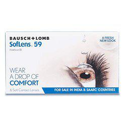 Bausch & Lomb Soflens 59 Contact Lense - 6 Pieces (-3.0)
