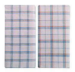 Cotton Lungi Assorted White Checks 2.25 Mtr. Pack of 2