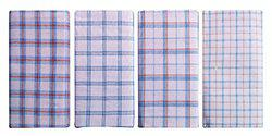 Cotton Lungi Assorted White Checks 2.25 Mtr. Pack of 4