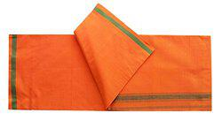 Orange Lungi/Sarong Pure Cotton (Pack of 1) by XYZ Textiles