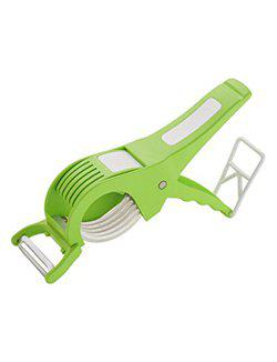 Capital Kitchenware Multipurpose 2 in 1 Veg Cutter Cum Peeler Green