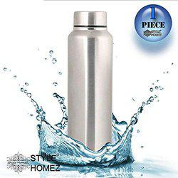 Style Homez Stainless Steel Fridge Water Bottle 1000 ml, Silver Chrome Color - BPA Free, Food Grade Quality