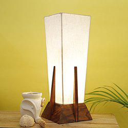 CRAFTBELL Decorative Wooden Table Lamp In Sheesham Wood - Indoor Lighting(14Inch)