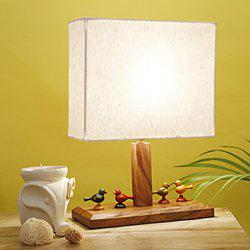CRAFTBELL Parrot Wooden Table Lamp In Sheesham Wood - Indoor Lighting(12 Inch)