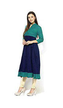 AnjuShree Choice Women Stitched Cotton Anarkali Kurti Kurta (L - 40)