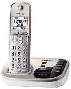 New Imported Panasonic KX-TGD225 Cordless Landline Phone White Color