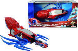 Majorette Spiderman Slam ' N Blast, 32 Cm Launcher(Multicolor)