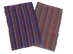 Home Fashion Cotton Door Mat Cotton Stripes Mat(Multicolor, Medium)