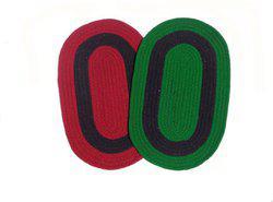 Home Fashion Cotton Door Mat Multicolor Cotton Oval Door Mat - Pack of 2(Multicolor, Medium)