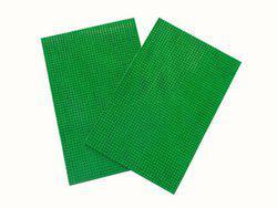 Home Fashion PVC Door Mat Green Leather Abstract Door Mat - Pack of 2(Green, Medium)