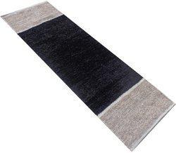 Home Fashion Black Polyester Carpet(56 cm  X 140 cm)