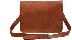 Pranjals House 11 inch Laptop Messenger Bag(Brown)