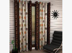 Home Fantasy Polyester Door Curtain 213 cm (6.9ft) Pack of 2(Abstract Multicolor)