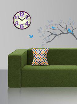 Style Homez Polka Cushions Cover(37.5 cm*37.5 cm, Multicolor)