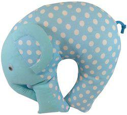 GuzelWorld Polka Dots Bed/Sleeping Pillow Pack of 1(Blue)