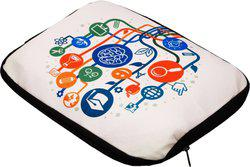 Nostaljia 14 inch Expandable Sleeve/Slip Case(White)
