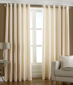 Home Fantasy Polyester Door Curtain 213 cm (6.9ft) Pack of 2(Plain Multicolor)