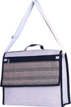 Jute Tree 15 inch Laptop Messenger Bag(White)