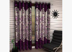 Home Fantasy Polyester Door Curtain 213 cm (6.9ft) Pack of 2(Printed Multicolor)