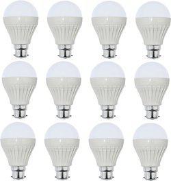 Iron Tech 3 W Standard B22 LED Bulb(White, Pack of 12)