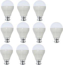 Iron Tech 9 W Standard B22 LED Bulb(White, Pack of 10)