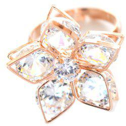 Aashya Mayro Alloy Cubic Zirconia 8K Rose Gold Plated Ring