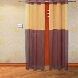 HOME ROYAL Cotton Door Curtain 213 cm (6 ft) Pack of 2(Solid Brown)