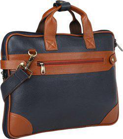 Bharat Leather Emporium 16 inch Expandable Laptop Messenger Bag(Blue)
