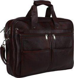 Bharat Leather Emporium 17 inch Expandable Laptop Messenger Bag(Brown)