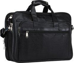 Bharat Leather Emporium 17 inch Expandable Laptop Messenger Bag(Black)