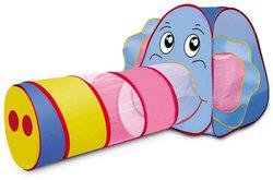 Saffire Big Elephant Tunnel Pop Up Play Tent House for Kids Indoor & Outdoor