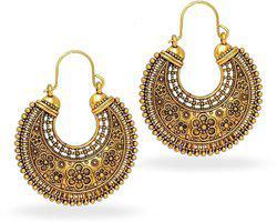 aabhu Gold Plated Designer Earrings Alloy Chandbali Earring