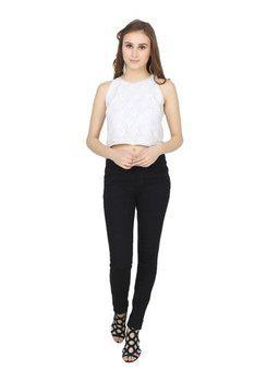 Lesuzaki Women Black Jeans