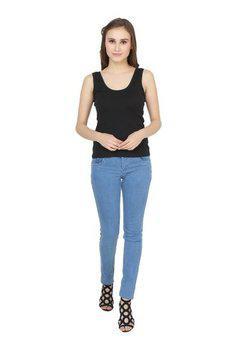 Lesuzaki Women Light Blue Jeans