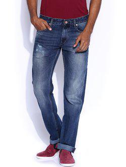 American Bull Blue Regular Slim Fit Jeans